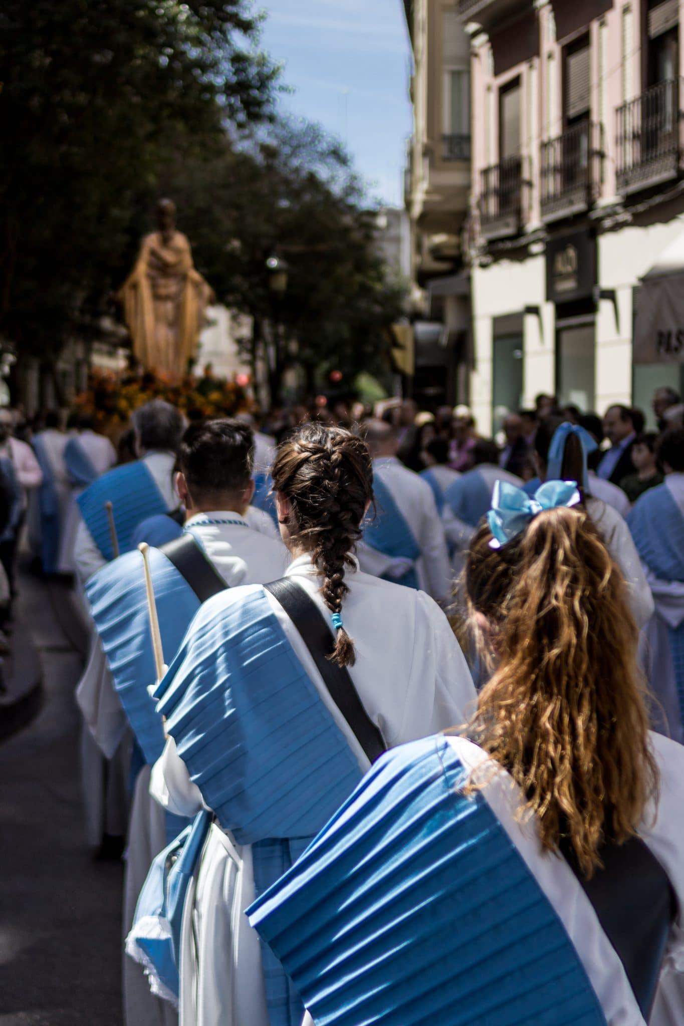 Semana Santa en Zaragoza - Procesión encuentro glorioso