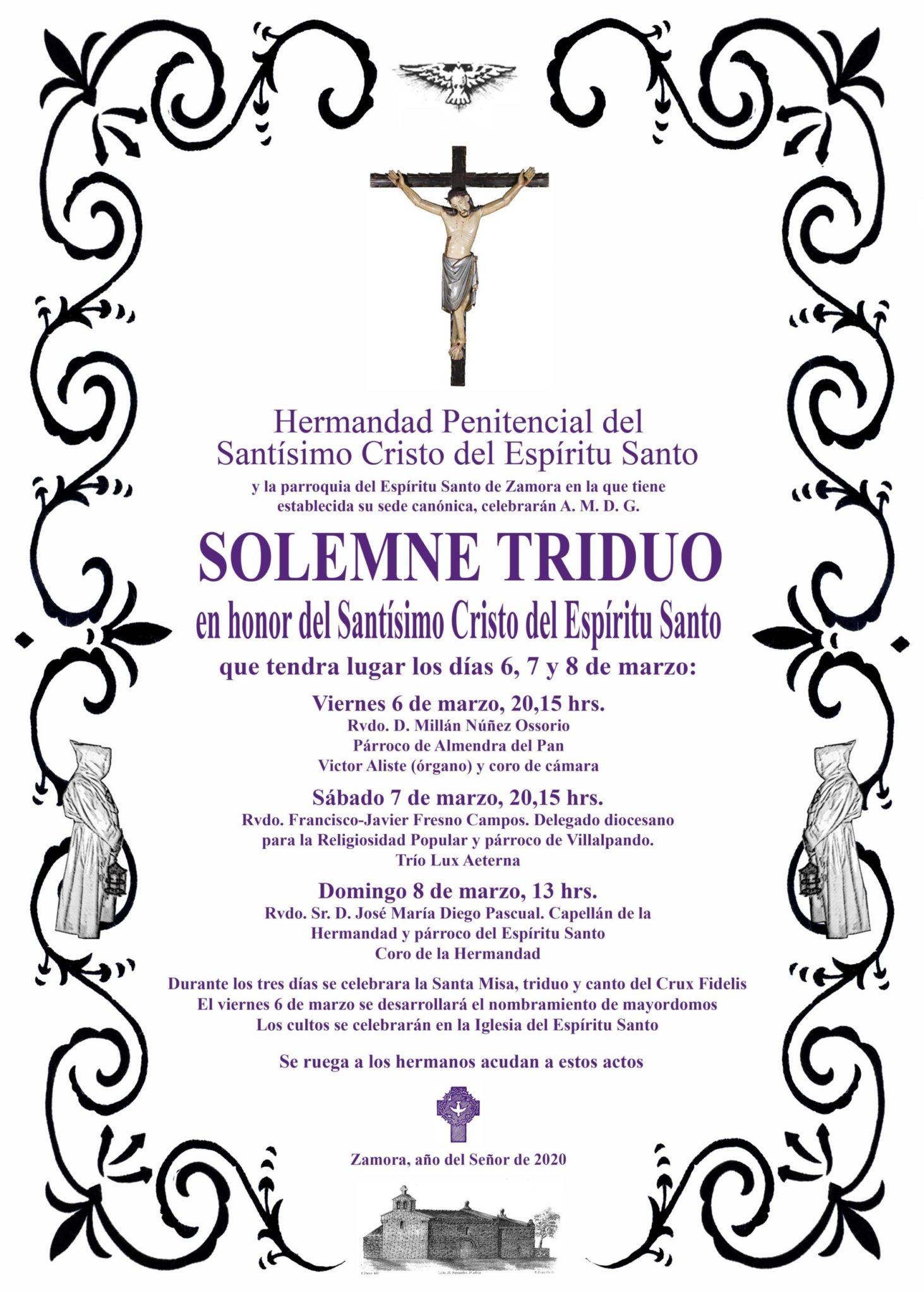 Solemne Triduo en honor del Santísimo Cristo del Espíritu Santo 1