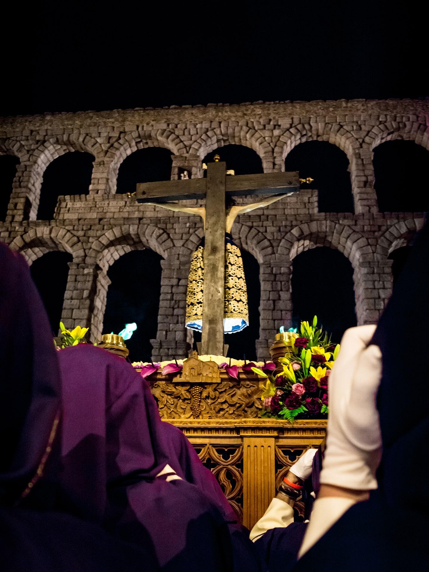 El cristo del mercado jueves santo, Segovia (Manu Rodrigo)